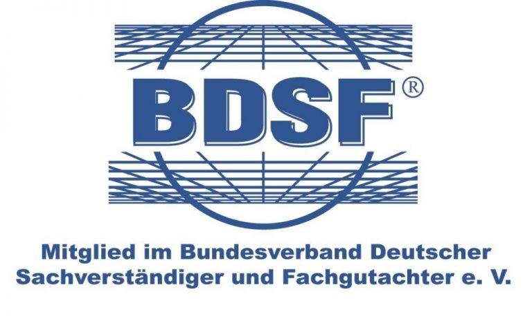 BDSF Mitglied Bundesverband Deutscher Sachverständiger und Fachgutachter e.V.